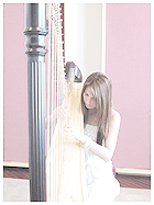 Sheila Knight playing the Concert Harp